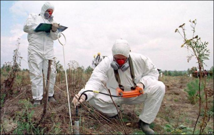 Химическая очистка почвы