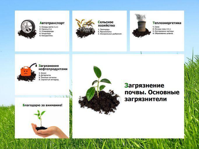 основные загрязнители почв