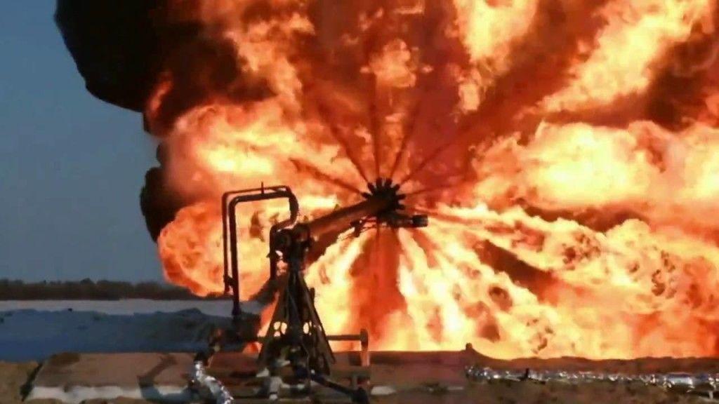 сжигании газа