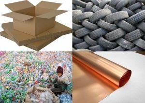 различия по видам мусора