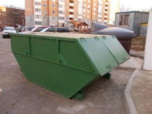 сбор мусора в бункере