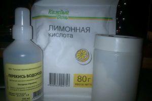 Набор для травления перекисью водорода и лимонной кислотой