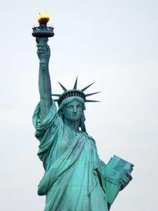 дикая патина на статуе Свободы