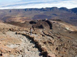 163 метра - это разница высот между вершиной вулкана и станцией