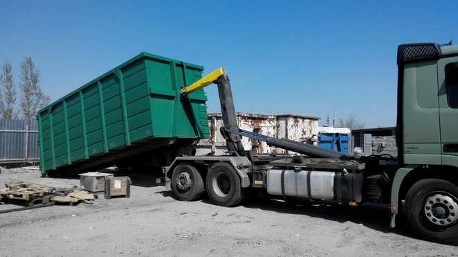 Для перевозки или сбора вторсырья - контейнер с погрузчиком