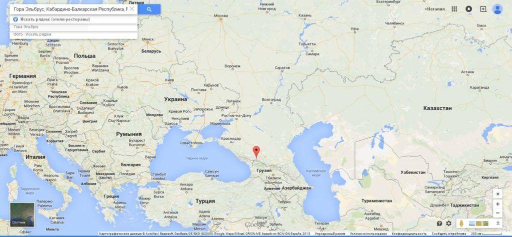 Достопримечательности и интересные факты о Эльбрусе на google карте