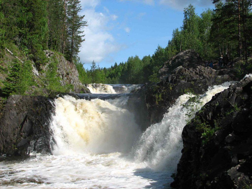 Фото водопада Кивач