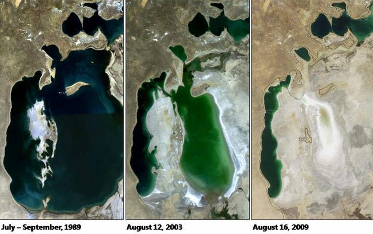 Изменение Аральского моря за последние 30 лет