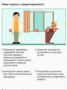 Меры защиты от укуса мошки