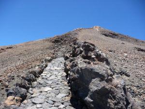 Вершина вулкана Тейде имеет тропу
