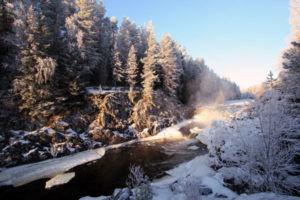 Заповедник Кивач зимой
