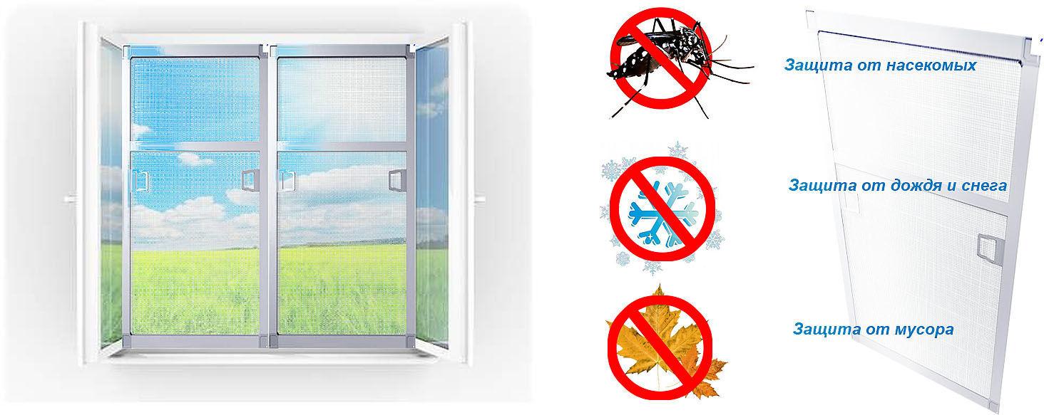 Функции противомоскитных сеток на окна