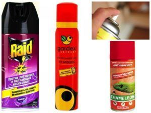 Химические аэрозоли от мошек