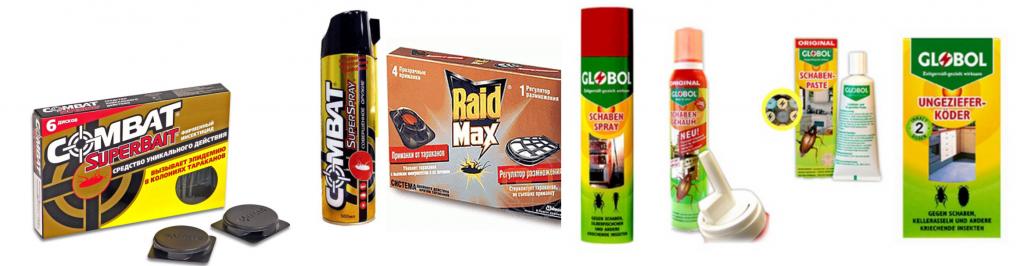 Химические вещества от тараканов