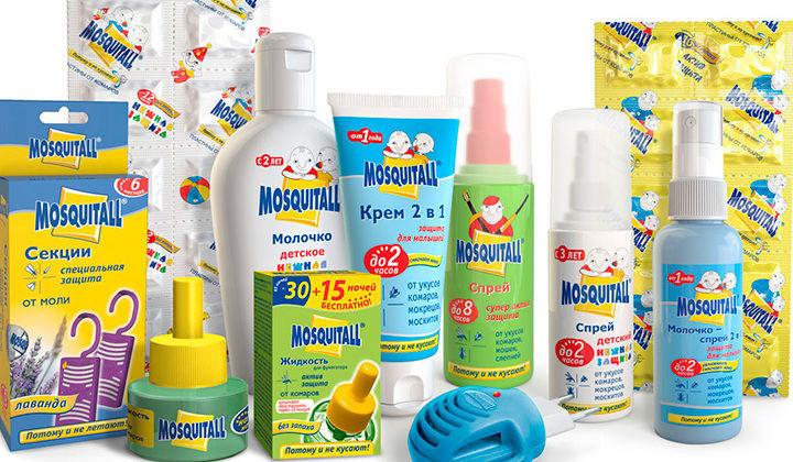 Средства от насекомых для детей (Москитол)