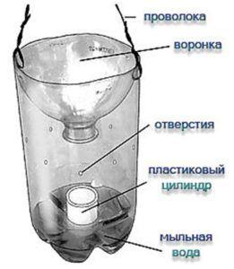 Ловушка-контейнер своими руками от мошек
