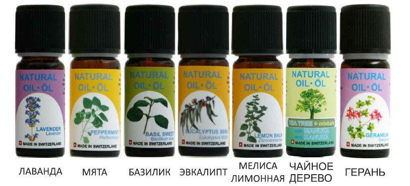 От укусов насекомых на природе рекомендуется использовать любое эфирное масло