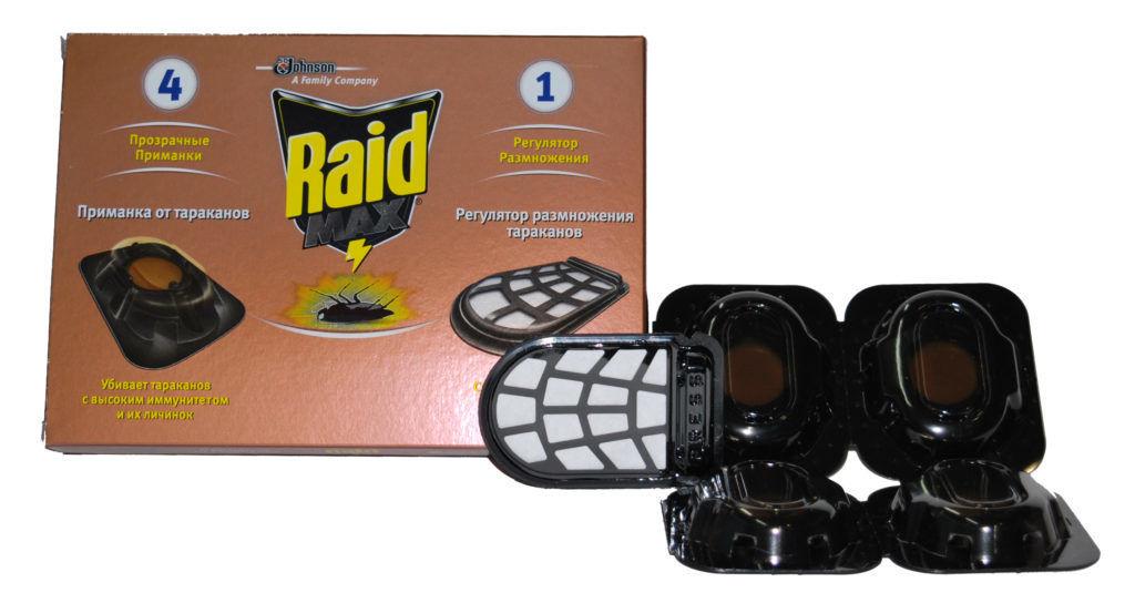 Raid Max приманка от тараканов