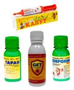 Разные средства борьбы с тараканами