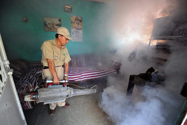 Так выглядит генератор горячего тумана в действии