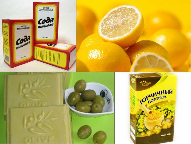 Уборку помещения можно проводить раствором из соды, мыла, лимона и горчичного порошка