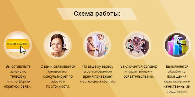 Схема работы дезинфекционной службы