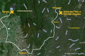 Маршрут до Нугушкского водохранилища