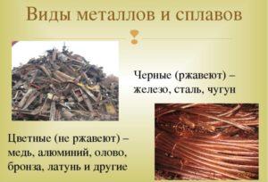 Виды металлолома