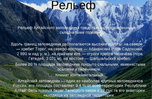 Заповедник Алтайский