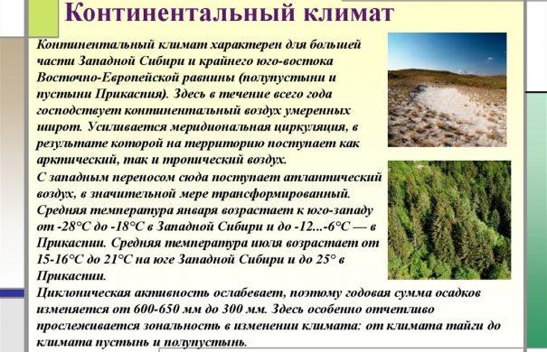 Климат континентальных широт